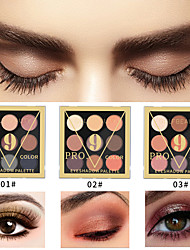 cheap -Beginner 9 Color Eyeshadow Waterproof Long Lasting Pearlescent Matte Nude Makeup Eye Shadow