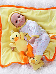cheap -NPKCOLLECTION Reborn Doll Baby Baby Girl 22 inch Cute New Design Artificial Implantation Brown Eyes Kid's Girls' Toy Gift