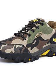 cheap -Men's Comfort Shoes Leather / Canvas Spring / Fall Sporty / Casual Athletic Shoes Hiking Shoes Breathable Brown / Dark Green / Gray / Non-slipping