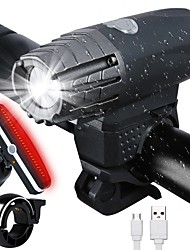 cheap -LED Bike Light Front Bike Light Tail Light Mountain Bike MTB Bicycle Cycling Waterproof Portable Alarm Warning Rechargeable Li-ion Battery USB 300 lm Cycling / Bike