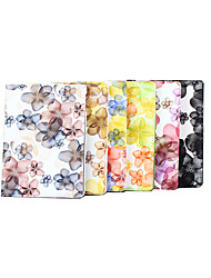 cheap -Case For Apple iPad Air / iPad 4/3/2 / iPad Mini 4 Magnetic Full Body Cases Playing with Apple Logo / Flower Hard PU Leather