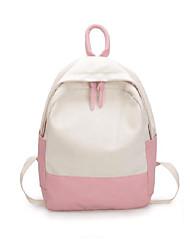 Недорогие -Большая вместимость Оксфорд Молнии рюкзак Сплошной цвет Повседневные Зеленый / Розовый / Желтый / Наступила зима