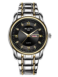 cheap -WLISTH Men's Steel Band Watches Analog Quartz Sporty Casual Calendar / date / day Noctilucent