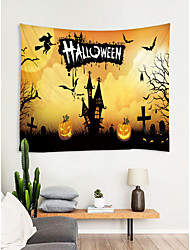 cheap -Halloween Wall Decor 100% Polyester New Year's Wall Art, Wall Tapestries Decoration