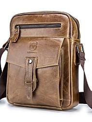 abordables -(Bullcaptain) sac à bandoulière en cuir pour hommes couche supérieure en cuir affaires tendance sac à main pour hommes