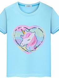 cheap -Kids Girls' Basic Geometric Short Sleeve Tee Blushing Pink