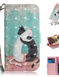 cheap -Case For Apple iPhone XR / iPhone XS / iPhone XS Max Wallet / Card Holder / with Stand Full Body Cases Animal / 3D Cartoon PU Leather