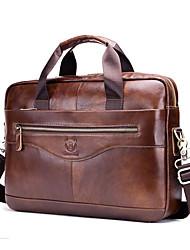 Недорогие -(bullcaptain) многофункциональный портативный кожаный портфель через плечо