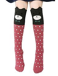 cheap -Girl Fashion Cute Bristling Ear Cartoon Animal Over Knee High Socks
