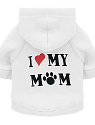 cheap -Dog Sweater Sweatshirt Puppy Clothes Love Slogan Casual / Daily Simple Style Dog Clothes Puppy Clothes Dog Outfits White Black Purple Costume for Girl and Boy Dog Fleece XS S M L