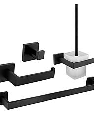 cheap -Bathroom Accessory Set / Towel Bar / Robe Hook Premium Design / Creative Contemporary / Modern Glasses / Stainless Steel / Metal 4pcs - Bathroom Wall Mounted