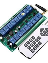 Недорогие -DC12V-24V 18-канальный интеллектуальный переключатель 10a релейный приемник / обучающий код 18-канальный радиочастотный передатчик и приемник 433 МГц