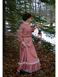 cheap -Duchess Victorian Ball Gown 1910s Edwardian Dress Party Costume Women's Costume Pink Vintage Cosplay Masquerade Long Sleeve Floor Length Long Length Plus Size / Blouse / Blouse