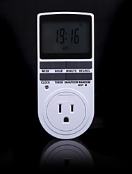 cheap -Electronic Digital Timer Switch 24 Hour Cyclic US Plug Kitchen Timer Outlet Programmable Timing Socket 220V