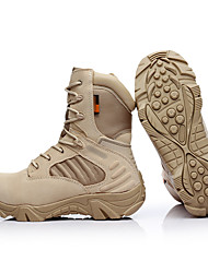 cheap -Men's Hiking Shoes Hiking Boots Windproof Breathable Anti-Slip Sweat-wicking High-Top Hiking Active Training Travel Autumn / Fall Spring Khaki