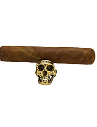 Недорогие -Lubinski ретро череп держатель для сигар большой кронштейн ринв кольцо для сигар аксессуары для дома украшения стола
