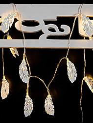 Недорогие -1.5 м перо струнные светильники металл 10 светодиодов теплое белое свадебное рождество новый год декоративные 5 в 1 комплект