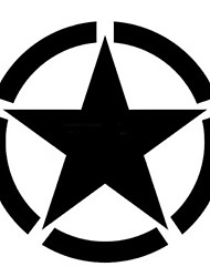 cheap -Five-pointed Star Stickers Motorcycle Car Tank Cup Body Decals Waterproof