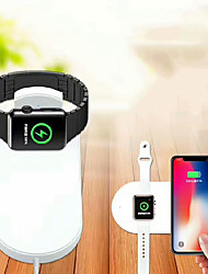 cheap -2 in 1 Universal IQ Wireless Charger for iphone 11 X 8 Plus XR XS MAX for Apple Watch Series iWatch 1 2 3 4 5 Fast Wireless Charger USB Wireless Charger 1.67 A DC 9V