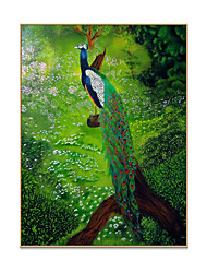 cheap -Cheap large modern framed peacock canvas wall art work