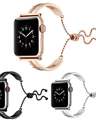 cheap -NEW Women 44mm/40mm/38mm/42mm Bangle Bracelet Pendant Strap Wristbands Stainless Steel Watch Band Tassel Jewelry Cuff For Apple Watch 4/3/2/1