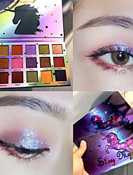 cheap -18 Colors Duochrome Laser Polarized 18 colors Eye Shadow Makeup Palette High-shine Glitter Shimmer eyeshadow palette
