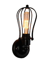 cheap -Swing Arm Wall Light Fixtures Wire Cages Industrial Wall Lamp Head Rotatable Corridor Wall Lamps Stairs LED Wall Mount Lights Black