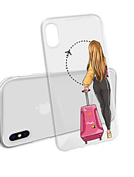 cheap -Case For iPhone XS Max X XR  8 Plus Back Case Soft Sexy Girl Transparent Mobile Phone Case Waterproof And Anti-Scratch Anti-Scratch Soft TM for iPhone 7 Plus 7 6 Plus 6 5 SE 5S 5 8