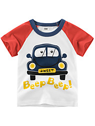 cheap -Children Boy Summer Short Sleeve Breathable Cotton T-shirt