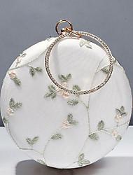 Недорогие -Жен. Вышивка Полиэстер Вечерняя сумочка Растения Белый / Наступила зима