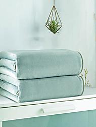 Недорогие -Одеяла / Диван Бросай, Простой / Сплошной цвет / Классика 100%микро волокно Обогреватель удобный Очень мягкий одеяла