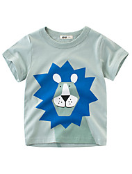 cheap -Kids Boys Cartoon Pattern Short Sleeve T-shirt