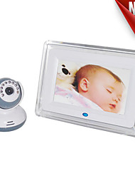 cheap -7-inch wireless digital baby monitor support night vision intercom function