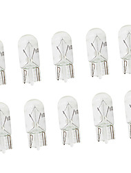 cheap -100pcs car t10 halogen w5w 194 158 wedges 12v 5w xexon lamp warm white yellow amber instrument light reading light clearance lamp