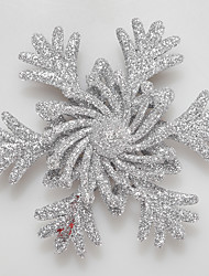 cheap -Christmas Tree Decor Hollow Out Snowflake Leaves Eight-pointed Star Shape Ornaments Silver