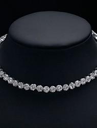 cheap -Women's Choker Necklace Torque Classic Simple Romantic Korean Fashion Chrome Imitation Diamond Silver 30 cm Necklace Jewelry 1pc For Wedding Gift Daily Graduation Engagement