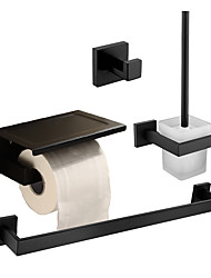 cheap -Bathroom Accessory Set / Towel Bar / Toilet Paper Holder New Design / Creative Traditional / Modern Glasses / Stainless Steel / Metal 4pcs - Bathroom Wall Mounted