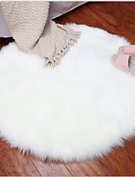 Недорогие -Dongguan pho_07n5 плюшевый круглый коврик напольный коврик для ног имитация шерсти ковер внутренняя отделка диаметр 30см_ белый