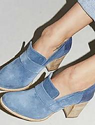 cheap -Women's Heels Chunky Heel Suede / PU(Polyurethane) Spring &  Fall Blue / Pink