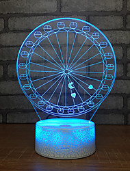 cheap -Giant Wheel 3d Night Light Home Decoration Intelligent Led Switch Color Changing Base White Beautiful 7 3D Lamp