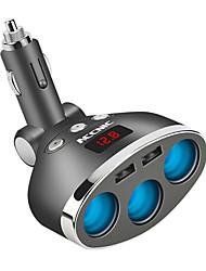 Недорогие -3-х канальный мульти прикуриватель удлинитель разъема USB зарядное устройство DC12V
