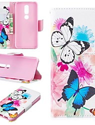cheap -Case For Nokia 4.2/Nokia 3.2 Magnetic / Flip / with Stand Full Body Cases Butterfly Hard PU Leather for Nokia 1 Plus/Nokia 2/Nokia 2.1/Nokia 3.1/Nokia 5.1/Nokia 7.1/Nokia 8/Nokia 6