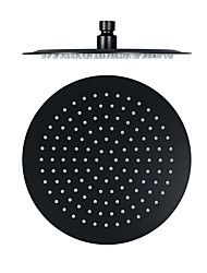 cheap -10 Inch Black Stainless Steel Ultra-thin Shower Head