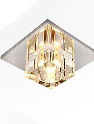 cheap -1-Light 15 cm Mini Style / New Design / Lovely Flush Mount Lights Metal Crystal / Globe / Mini Chrome Contemporary / Artistic 110-120V / 220-240V / G4 / FCC