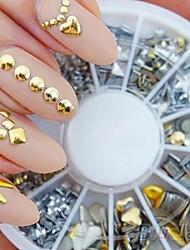 cheap -300PCS Punk Rivet Nail Art Decoration Stickers Metallic Gold Studs Nail Tips DIY (Color Multicolor)