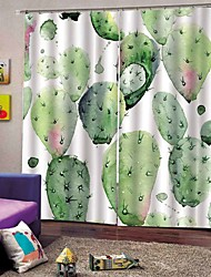 cheap -Modern 3D Printing Landscape Fabric Curtains Heat Insulation Sunscreen Thickened Full Shade Curtains for Living Room Mouldproof Moistureproof Shower Curtains