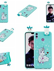 cheap -For Huawei Honor 8X 3D Cute Coloured Painted Animal TPU Anti-scratch Non-slip Protective Cover Back Case