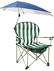 cheap -Camping Chair with Cup Holder with Side Pocket Portable Anti-Slip Foldable Comfortable Steel Tube Oxford for 1 person Camping Camping / Hiking / Caving Traveling Picnic Autumn / Fall Spring Green