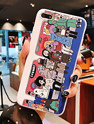 cheap -Case For Apple iPhone 6 / iPhone XS Max Pattern Back Cover Cartoon Soft TPU for iPhone 6 / iPhone 6 Plus / iPhone 6s