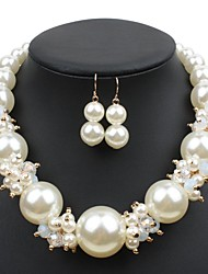 cheap -Women's Pearl Bridal Jewelry Sets Layered Love Statement Colorful Imitation Pearl Earrings Jewelry White / Champagne For Wedding Party 1 set